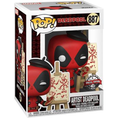 Фигурка Funko Головотряс Deadpool 30th Anniversary - POP! - Artist Deadpool (Exc) 56442 (9.5 см)