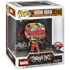 Головотряс Marvel Comics - POP! Deluxe - Iron Man (Street Art Collection) (9.5 см)