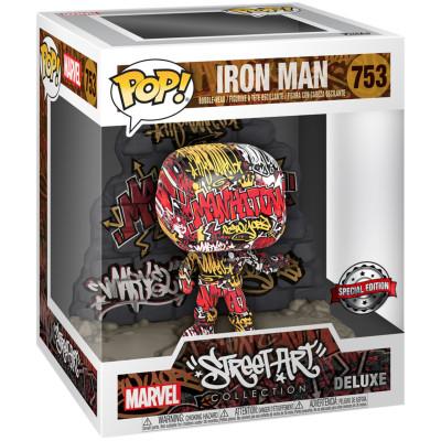 Фигурка Funko Головотряс Marvel Comics - POP! Deluxe - Iron Man (Street Art Collection) 52710 (9.5 см)