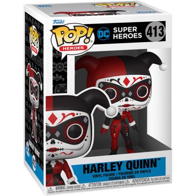 Фигурка Funko DC: Super Heroes - POP! Heroes - Harley Quinn (Dia De Los DC) 57416 (9.5 см)