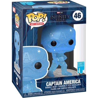 Фигурка Funko Головотряс The Infinity Saga - POP! Art Series - Captain America 57614 (9.5 см)