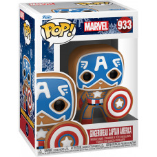 Головотряс Marvel Comics - POP! - Gingerbread Captain America (9.5 см)