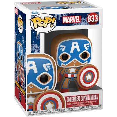 Фигурка Funko Головотряс Marvel Comics - POP! - Gingerbread Captain America 50657 (9.5 см)
