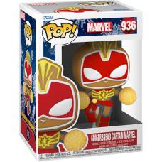 Головотряс Marvel Comics - POP! - Gingerbread Captain Marvel (9.5 см)