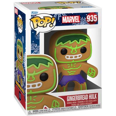 Фигурка Funko Головотряс Marvel Comics - POP! - Gingerbread Hulk 50660 (9.5 см)