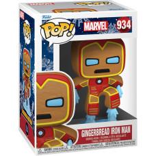 Головотряс Marvel Comics - POP! - Gingerbread Iron Man (9.5 см)