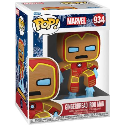 Фигурка Funko Головотряс Marvel Comics - POP! - Gingerbread Iron Man 50658 (9.5 см)