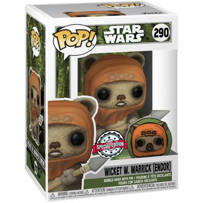 Фигурка Funko Головотряс Star Wars - POP! - Wicket W Warrick (Endor) (with Pin) 55689 (9.5 см)