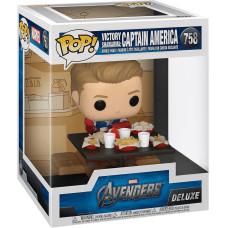 Головотряс Avengers - POP! Deluxe - Victory Shawarma: Captain America (Exc) (13 см)