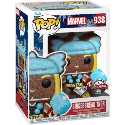 Фигурка Funko Головотряс Marvel Comics - POP! - Gingerbread Thor (Holiday) (Diamond Glitter) (Exc) 58235 (9.5 см)