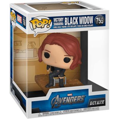 Фигурка Funko Головотряс Avengers - POP! Deluxe - Victory Shawarma: Black Widow (Exc) 54898 (13 см)