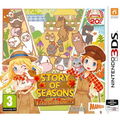 Story of Seasons: Trio of Towns [3DS, английская версия]
