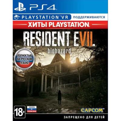 Игра для PlayStation 4 Resident Evil 7: Biohazard (поддержка VR) (Хиты PlayStation) (русские субтитры)