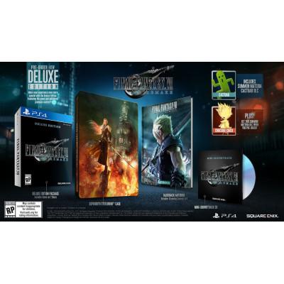Игра для PlayStation 4 Final Fantasy VII Remake. Delux Edition (русская документация)