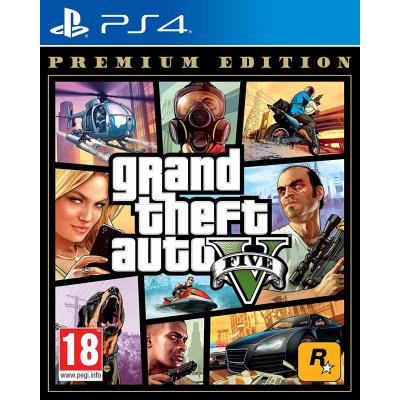 Игра для PlayStation 4 Grand Theft Auto V. Premium Edition (русские субтитры)