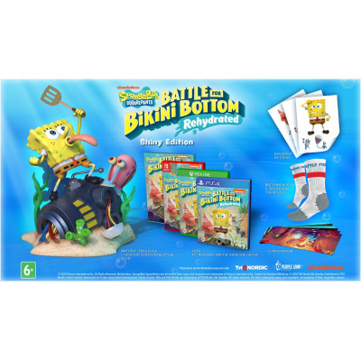 Игра для Nintendo Switch SpongeBob SquarePants: Battle For Bikini Bottom - Rehydrated. Shiny Edition