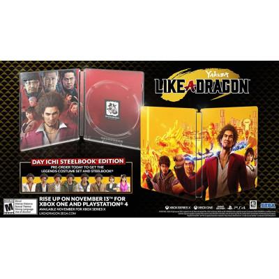 Игра для PlayStation 4 Yakuza: Like a Dragon. Day Ichi Steelbook Edition (английская версия)