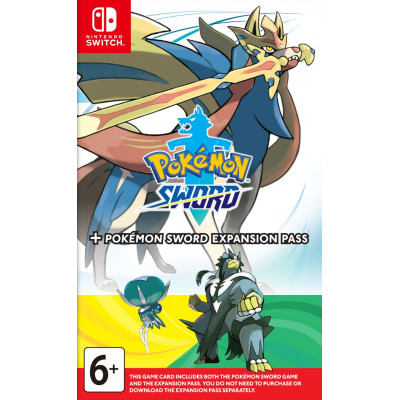 Игра для Nintendo Switch Pokemon Sword + Expansion Pass (английская версия)
