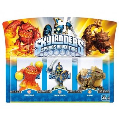 Набор интерактивных фигурок Skylanders: Spyro's Adventure (Chop Chop, Bash, Eruptor) [PC, PS3, Xbox 360, 3DS, Wii]
