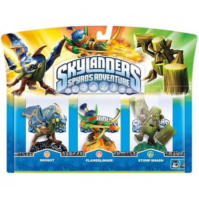 Набор интерактивных фигурок Skylanders: Spyro's Adventure (Drobot, Stump Smash, Flameslinger) [PC, PS3, Xbox 360, 3DS, Wii]