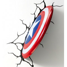 Светильник 3D - Captain America Shield