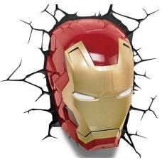 Светильник 3D - Iron Man Mask