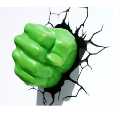 Светильник 3D - Hulk Fist