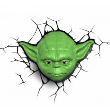Светильник 3D - Star Wars - Yoda Face