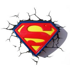 Светильник 3D - Superman Shield