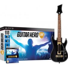 Комплект для Guitar Hero Live (игра + беспроводная гитара) [PS3, английская версия]