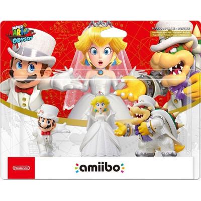 Набор интерактивных фигурок amiibo - Super Mario Odyssey - Mario, Peach, Bowser (на свадьбе)