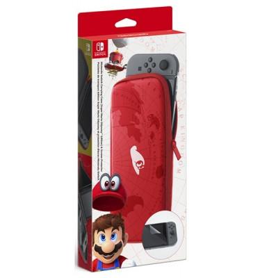 Чехол в стиле Super Mario Odyssey для Nintendo Switch (в комплекте защитная плёнка)