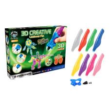 Набор детских 3D-ручек Fitfun Toys Y8808-2 (8 шт, светящиеся чернила)