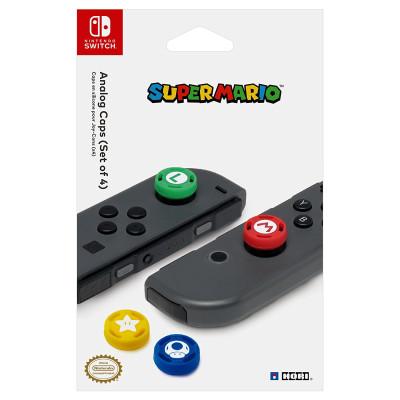 Накладки HORI Сменные для контроллера NS (Super Mario) (4 шт) NSW-036U