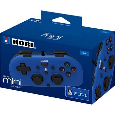 Контроллер HORI проводной HORIPAD Mini для PS4 (синий) PS4-100E