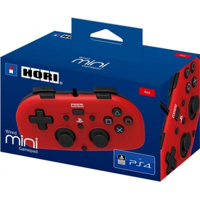 Контроллер HORI проводной HORIPAD Mini для PS4 (красный) PS4-101E