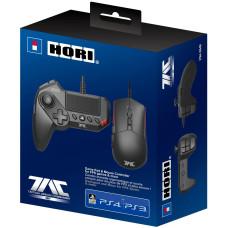 Проводной геймпад HORI T.A.C Grip и проводная игровая мышь для PS4 / PS3 / PC