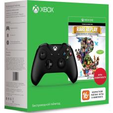 Комплект: Беспроводной геймпад для Xbox One (черный) + Rare Replay [Xbox One, английская версия]