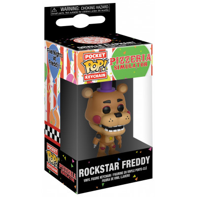Брелок Funko Five Nights at Freddy's: Pizzeria Simulator - Pocket POP! - Rockstar Freddy 32155-PDQ (4 см)
