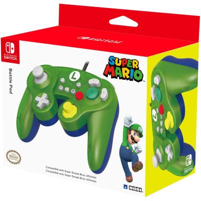 Контроллер HORI Battle Pad для NS (Super Mario - Luigi) NSW-136U