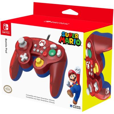Контроллер HORI Battle Pad для NS (Super Mario - Mario) NSW-107U