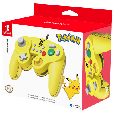 Контроллер HORI Battle Pad для NS (Pokémon - Pikachu) NSW-109U