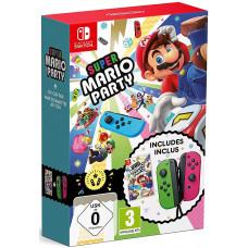 Комплект контроллеров Joy-Con (неоново-зеленый/неоново-розовый) + Super Mario Party [NS, русская версия]