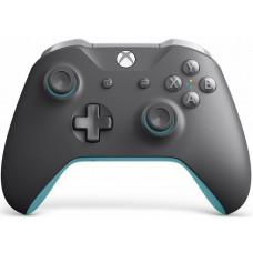 Геймпад беспроводной для Xbox One (Grey/Blue) + 14 дней Game Pass и Xbox Live Gold
