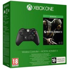 Геймпад беспроводной для Xbox One + Mortal Kombat X [Xbox One, русские субтитры]
