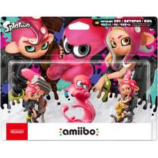 Набор интерактивных фигурок amiibo - Splatoon - Oktoling Boy / Octopus / Girl (Осьмолинг Мальчик / Осьминог / Девочка)
