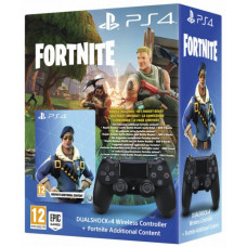 Беспроводной геймпад DualShock 4 для PS4 (Black) + Fortnite Voucher