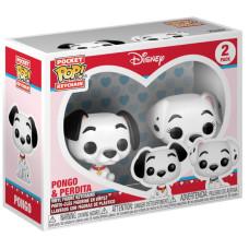 Набор брелков 101 Dalmatians - Pocket POP! - Pongo & Perdita (4 см)