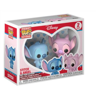 Набор брелков Lilo & Stitch - Pocket POP! - Stitch & Angel (4 см)