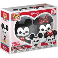 Набор брелков Mickey Mouse - Pocket POP! - Mickey & Minnie (4 см)